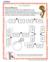 decimal dilemma u2013 5th grade math worksheets u2013 jumpstart