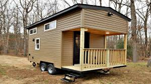classic country tiny home with front porch floor level u0026 loft