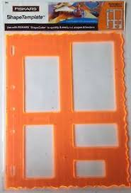 fiskars shape template set rectangles 1 w majestic border 4853