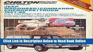 download chilton s repair manual jeep wagoneer commando cherokee