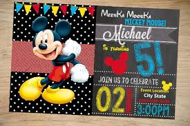 free mickey mouse birthday invitation templates 18 mickey mouse