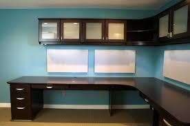 wall mounted desks with dark brown melamined wooden corner desk