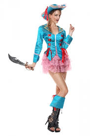 womens halloween pirate costume blue melodicday