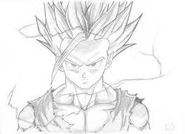 pencil drawing son gohan