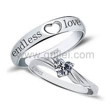 love promise rings images Endless love cubic zirconia promise rings with custom engraving jpg