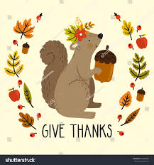 papyrus thanksgiving cards holiday card squirrel acorn autumn leaves stock vector 329029808