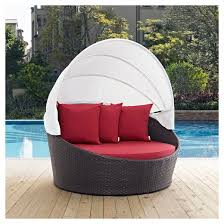 convene canopy outdoor patio daybed espresso red modway target