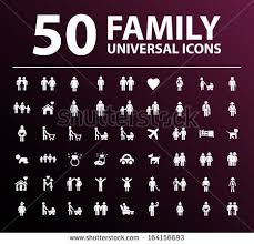 50 family icons stock vector 164156693