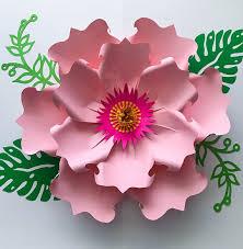 svg petal 71 paper flower petal template digital version the