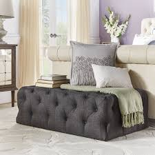linen tufted cocktail ottoman house plan and ottoman tufted