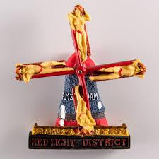 fridge red light resin fridge magnet netherlands wind mill red light district in