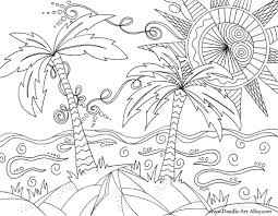 beach scene coloring page free printable pages with diaet me