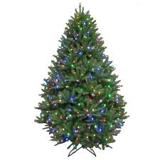 christmas tree 7 5 ft pre lit led california cedar artificial christmas tree