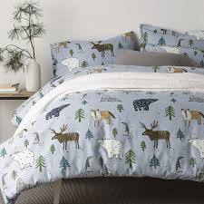 forest flannel sheets bedding set the company store