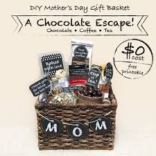 Mother S Day Gift Basket Ideas Diy Mother U0027s Day Gift Basket U2013 A Chocolate Escape 0 Cost With