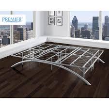 Platform Bed Frame With Headboard Premier Ellipse Arch Platform Bed Frame Brushed Silver Walmart Com