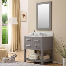 High Quality Bathroom Vanities by Cadale 30 Inch Gray Finish Traditional Single Sink Bathroom Vanity