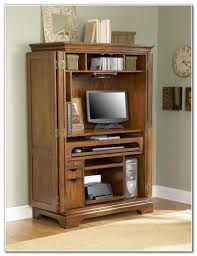 Computer Armoire Sauder by Computer Armoire Cabinet An Unused Tv Armoire Was Repurposed Into
