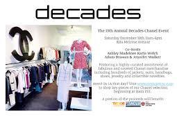Consignment Shops In Los Angeles Area 13th Annual Decades Chanel Event La Guestlist