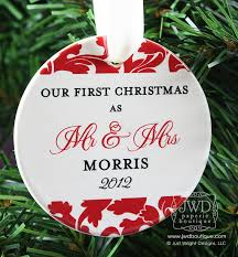our first christmas mr and mrs ornament personalized wedding