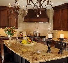 kitchen granite countertop ideas tuscan kitchen the granite like the colors and the backsplash