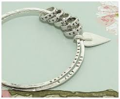 red links bracelet images Personalised double bangle with silver links red ted 39 s jewellery jpg