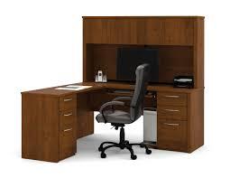 Corner Desk Cherry Wood by Bestar Embassy L Shaped Desk