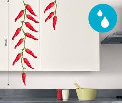 porte eponge mural sticker mural piment rouge cuisine