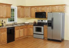 Unfinished Cabinets Kitchen Oak Kitchen Cabinets With Wood Flooring Tehranway Decoration