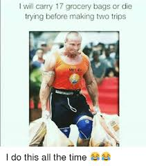 Carry On Meme - i will carry 17 grocery bags or die trying before making two trips i