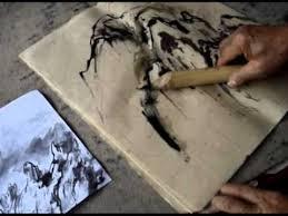 calame bamboo reed pens demo by master zhou xueyu youtube