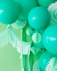 mint green streamers monochromatic green party oh happy day bloglovin