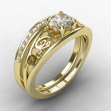 white gold engagement ring with yellow gold wedding band best white gold filigree wedding band products on wanelo