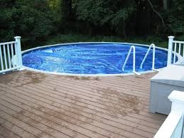 free above ground pool wood deck plans contemporary wood