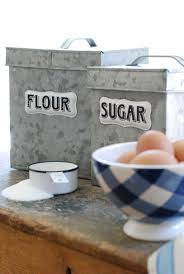 132 best vintage style farmhouse kitchen decor images on pinterest galvanized flour and sugar canister set flour canister sugar canister find this pin and more on vintage style farmhouse kitchen