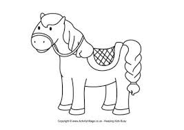 horse colouring 5