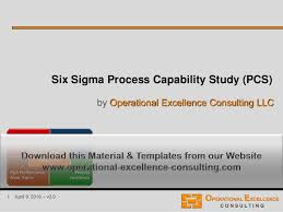 Capability Study Excel Template Six Sigma Process Capability Study Pcs Module
