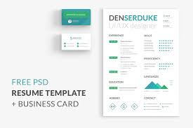 free resume business card free design resources