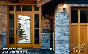Frosted Glass Exterior Door Frosted Glass Exterior Door Glass Entry Doors Etched Glass Trees