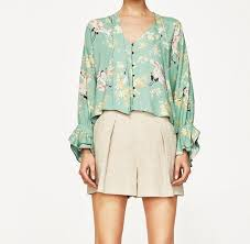 mint blouse wishbop 2017 summer mint green floral printed shirt blouse
