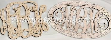 monogrammed guest book wedding guest book authenticmonogram comauthenticmonogram
