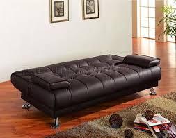 vinyl modern futon sofa bed w removable arm rests
