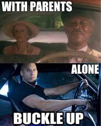 Funny Memes About Driving - driving with parents vs without