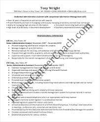 Sample Of An Administrative Assistant Resume by Secretary Resume Example Resume Examples No Experience Posts