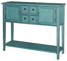 Teal Table L Blue Console Table Centralazdining