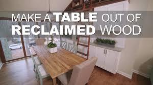 reclaimed dining room tables reclaimed dining room table video diy