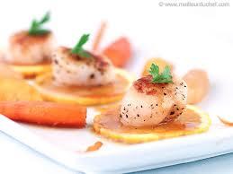 cuisiner noix jacques noix de jacques à l orange fiche recette meilleurduchef com