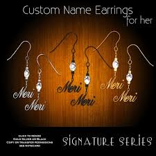 Custom Name Earrings Second Life Marketplace Exquisite Signature Series Custom Name