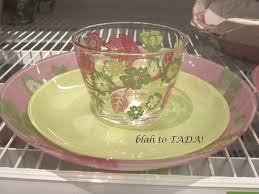 ikea pink plates blah to tada flower power