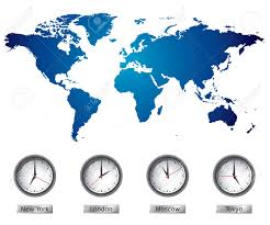 World Time Zones Map World Map With Time Zones Royalty Free Cliparts Vectors And